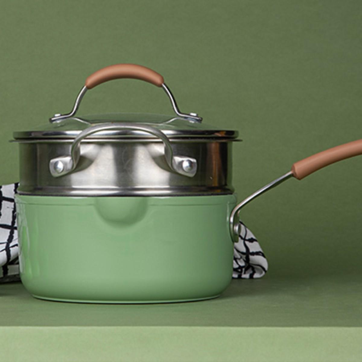 carote麥飯石不粘泡麵小奶鍋(綠色)