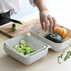 享伽優品廚房果蔬收納瀝水籃三件套