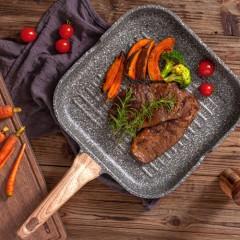 Carote麥飯石平底烤肉牛排煎鍋(送牛排夾)