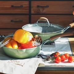 carote麥飯石不粘平底煎鍋(綠色)