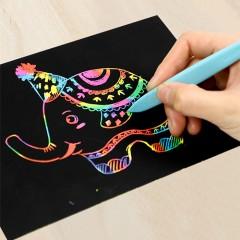 兒童炫彩DIY刮畫紙套裝