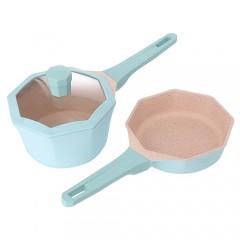 Sushar麥飯石寶寶輔食鍋奶鍋煎鍋