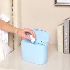 享伽優品簡約按壓彈蓋桌面垃圾桶