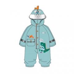 兒童立體卡通連體防水防護雨衣