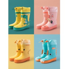 兒童立體卡通防滑防水雨靴水鞋