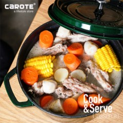 CaROTE卡羅特鑄鐵琺瑯燉煮湯鍋24cm