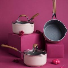 carote麥飯石不粘小奶鍋(粉色)