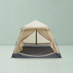 春遊雙層防風防潮3-4人速開帳篷