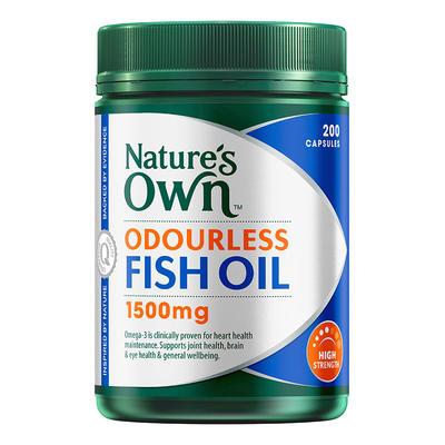 Nature's Own 高強度無腥味深海魚油膠囊 1500mg 200粒
