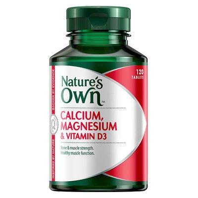 Nature's Own 鈣鎂+維生素D3營養片 120片