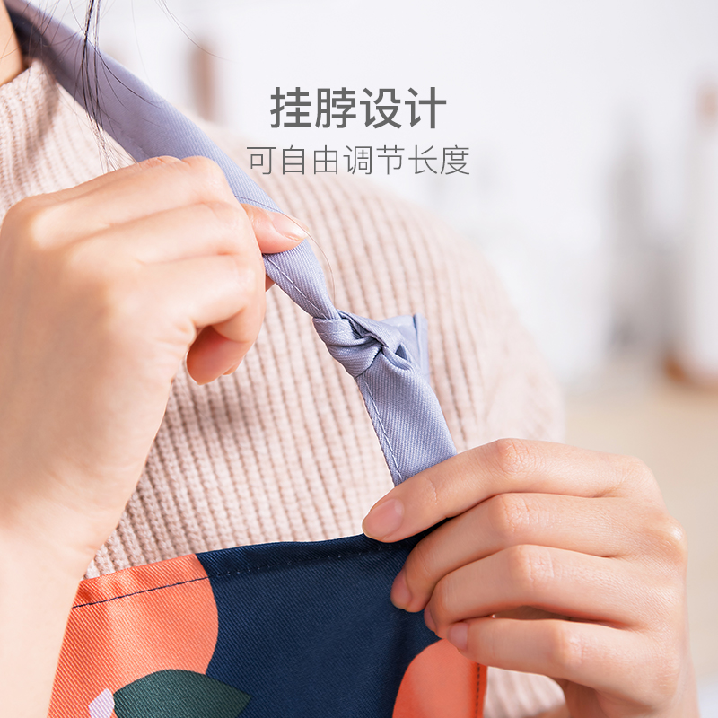 透氣輕便,趣味耐髒 波點清潔防護圍裙