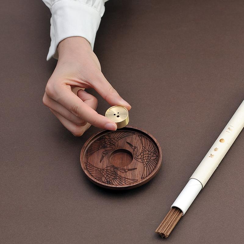 宋代極簡美學,多口徑適配 銅木多用香插