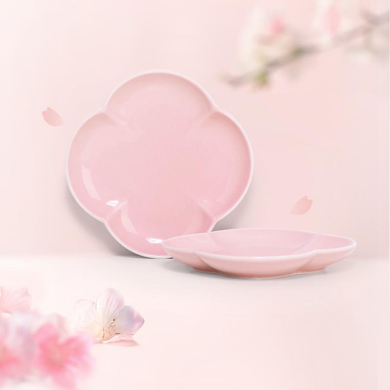 2件裝 粉釉花瓣心意點綴 點心盤*2 碟子盤子