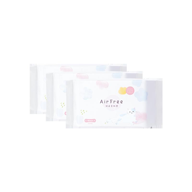 嬰兒級棉柔呵護 Airfree超薄衞生巾日用夜用