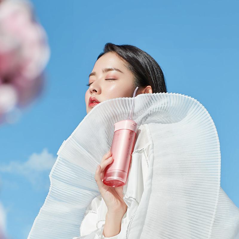 給口腔洗櫻花浴,便攜抽拉式香氛衝牙器