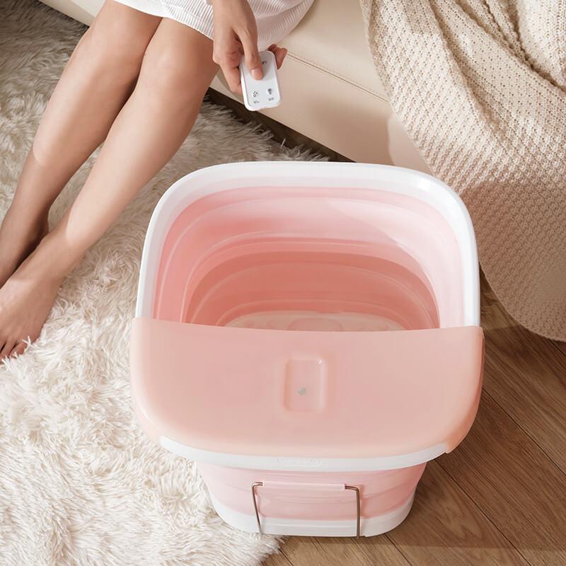 可摺疊易收納,恆温按摩足浴盆