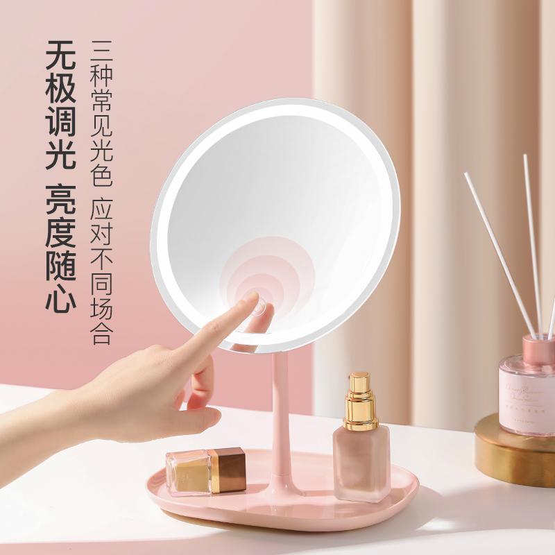 高清日光智能調光指觸LED子母化粧鏡