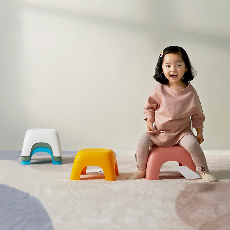 北歐風設計感 彩虹象腿浴室凳